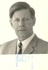 Original Helmut Schmidt (1918-2015) Autogramm + Echtheitszertifikat