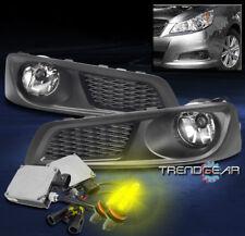 BUMPER FOG LIGHTS LAMP CHROME W/3K XENON HID+WIRING HARNESS FOR 2010-2012 LEGACY