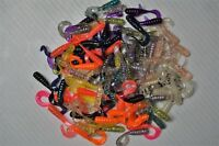 """100 Curly Tail Grubs 1 1/2"""" Panfish Plastic Fishing Lures Crappie,Bream,Trout"""