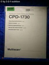 Sony Bedienungsanleitung CPD 1730 Multiscan Computer Display (#2046)