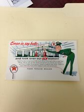 TEXACO POST CARD ADVERTISEMENT 1950'S 1960,S