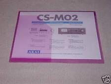 AKAI CS-MO2  CASSETTE DECK OPERATOR'S MANUAL