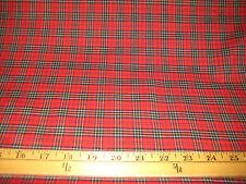 "Red/Black/Yellow Mini Plaid 100% Cotton Light Weight Poplin Fabric 60"" Wide BTY"