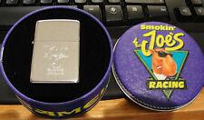 CAMEL SMOKIN JOE'S RACING CHROME ZIPPO LIGHTER 1994 TIN RARE made in USA