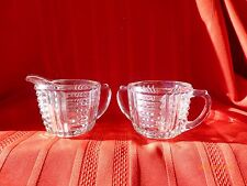 Antique Glass Sugar and Creamer Lot of 2 Vintage Items Beautiful