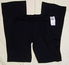 PERFORMANCE Quick Dry YOGA, WORKOUT, EXERCISE Pants Black S, Foldover Top