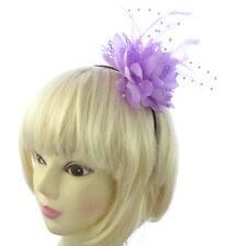 lilas dentelle fleur plume & Beadin fascinateur bandeau pour mariages, Courses,