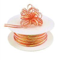 3mm 1/8 Organza Pull bow ribbon Coral iridescent 50 yd