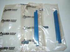 "(2) AMPHENOL PCB EDGE CARD CONNECTORS ""143-022-01""  (22 POSITION) NOS BAGGED."