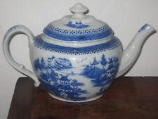 INGLESE REGENCY periodo Teiera Blu & Bianco design di ispirazione orientale