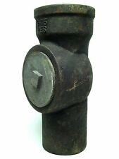 "5"" Tyler 5-SV PE 2-75 Cast Iron Hub Pipe Fitting Sanitary Tee W/ 5"" Cleanout KB"