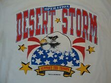 Vintage Operation Desert Storm Eagle Support the Troops USA Soft thin T Shirt M