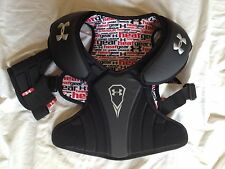 New Under Armour Ua Spectre Lacrosse Shoulder Pads~Black~Size X Small 6-8