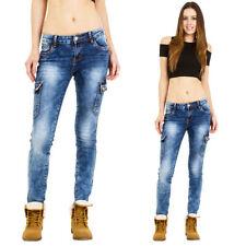 Denim Mid Rise Regular Size Trousers for Women