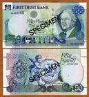 SPECIMEN Ireland Northern, First Trust bank, 50 pounds, 1998, P-138as, Gem UNC