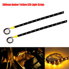 2x 30CM 3528 SMD 15LEDs 12V CAR Waterproof Flexible LED STRIP LIGHT Amber Yellow