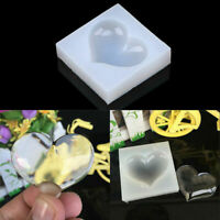 DIY Silicone Heart Shape Resin Mould Jewelry Pendant Craft Mold Making Tool Hot