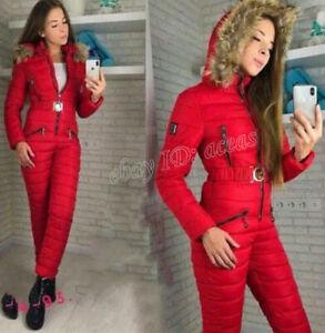 Womens Winter Ski Snow Suit Jumpsuit Waterproof Outdoor Sport Overall Outerwear