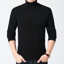 Men Wool Blend Sweater Cashmere Jumper Pullover High Neck Soft Warm Winter