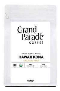 100% Hawaiian Organic Kona Medium Roast Coffee, Fresh Roasted Daily, 6oz Bag