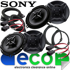 SONY Vauxhall Corsa D 2006-2014 Front Door & Rear Side Car Speaker Upgrade Kit