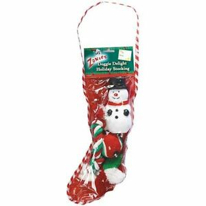 Doggie Delight Holiday Stocking 4 Pack Dog Toys Toy Puppy Christmas Rope Ball
