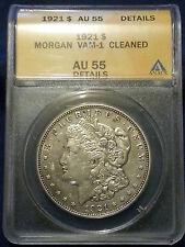 1921 $1 Morgan Silver Dollar AU-55 Vam-1