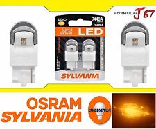 Sylvania ZEVO LED light Bulb 7440 Amber Orange Brake Driving DRL Back Up Reverse