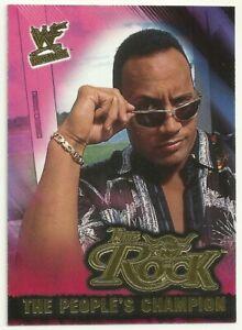 2001 FLEER WWF WRESTLEMANIA - THE ROCK INSERT - THE PEOPLE'S EYEBROW - #3