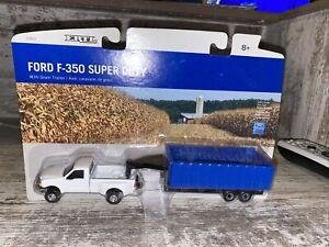 1/64th Scale Ford F-350 Super Duty With Grain Trailer Ertl Die-cast