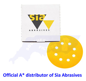 Sia 125mm Sanding Disc 8 Hole Backed 40g-400g - Hook and Loop / Special Offer