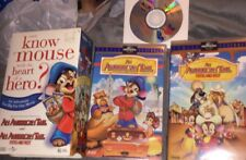 An American Tail + Fievel Goes West (2 VHS Set w/Clamshell Cases & CD-ROM Disc