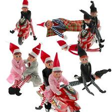 """Elves Behavin Badly 11"""" Naughty Elf Sets Accessories Toys Christmas Decorations"""