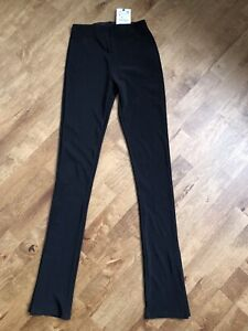 Zara Black Ottoman Leggings - Small