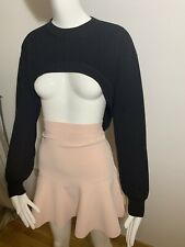 Givenchy Rare Black Wool Knitted Cropped Top Jumper Sweater Size M NEW!