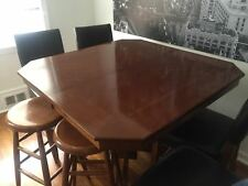 Beautiful expandable mahogany wood dining room table