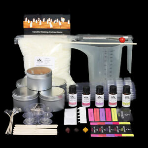 Candle Making Kit with instructions, fragrance, tealights, melts & labels