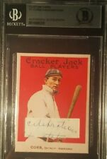 Ty Cobb Cracker Jack Mini Cut Letter Handwriting BAS BECKETT AUTHENTIC AUTO 1/1