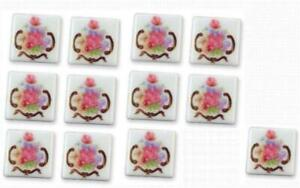 Porcelain Tiles 1.791/1 Reutter Dresden Rose Dollhouse Miniature