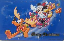 Disney Tokyo Disneyland Phone Card Unused Merry Christmas English Japanese