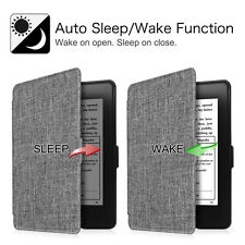 For All-New Amazon Kindle Paperwhite Case Premium Fabric Cover Auto Sleep/Wake
