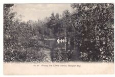 Boating Among The 30,000 Islands, Georgian Bay, Ontario, Antique Postcard