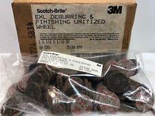 (80) 3M Scotch-Brite EXL Deburring & Finishing Unitized Wheels, 1 x 1/8 x 1/6in