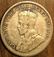 1929 CANADA SILVER 10 CENTS COIN