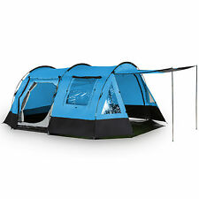 skandika Kambo 4 Person Man Tunnel Camping Tent 3 Entrances Canopy Blue New
