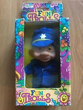 Vintage Toy Things FUN TROLLS Police Officer - Blue Uniform FACTORY SEALED!