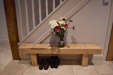 Rustic Solid Oak Sleeper Bench