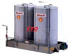 HO SCALE TRAIN MODEL POWER SHELL HIGH TWIN OIL TANKS BUILDING KIT NIB