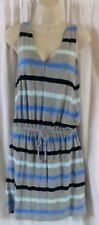 GAP Dress M Sleeveless Multi Color Knee Length Stripes