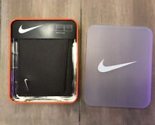 NIKE Dark Drown Bifold Passcase Pebbled Leather Wallet Billfold - NEW WITH TAGS